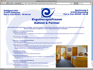 Screenshot ErgotherapiePraxen Kühnel & Partner